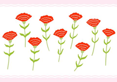Yurukawa hand drawn carnation