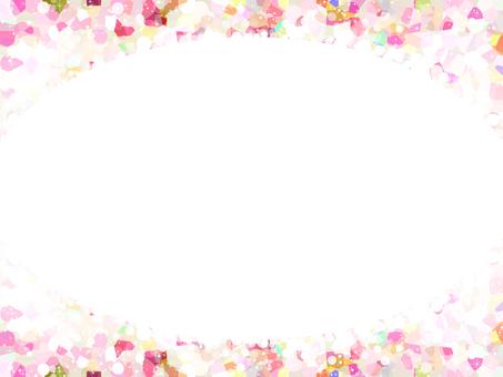 Round frame 3 (pink)