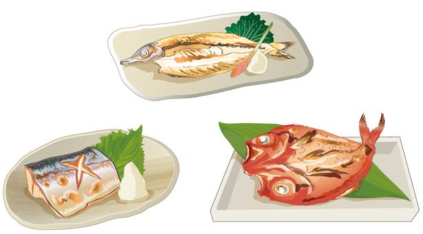 생선 구이 세트