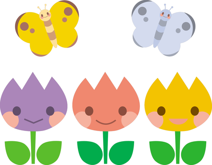 튤립과 나비 2