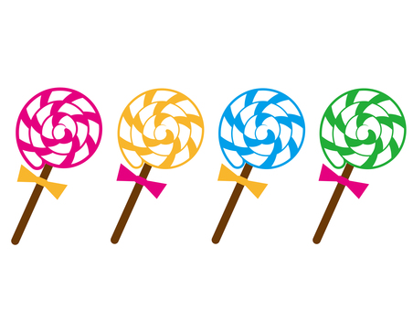 Swirl Candy 4 colors