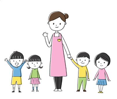 Teachers and children