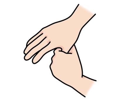 Hand washing thumb