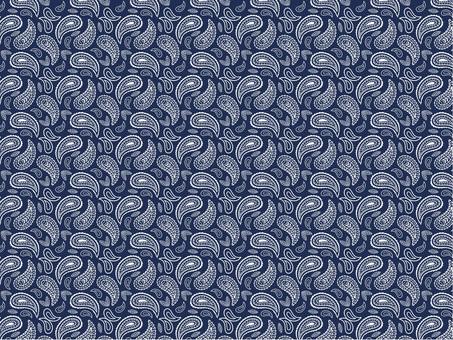 Navy Paisley Pattern Bandana Textile