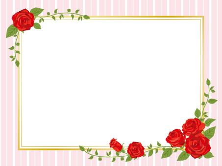 Red rose frame frame style frame decorative frame 01