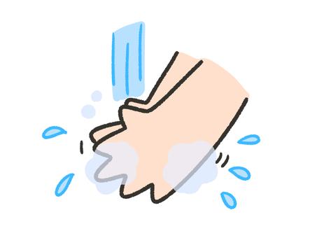 Illustration of simple hand washing