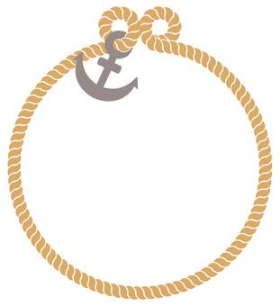 Marine circle frame 01