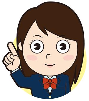 Pointing blazer girls school student (normal)