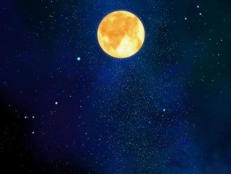 Space wallpaper full moon ③