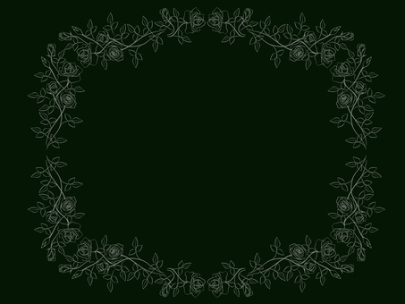 Rose frame (blackboard)