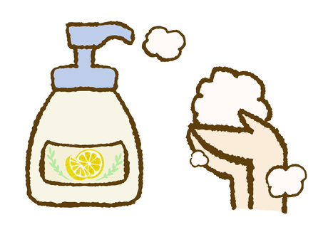 Hand wash with hand soap
