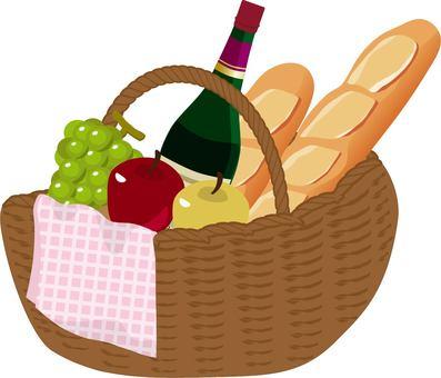 Picnic basket apple