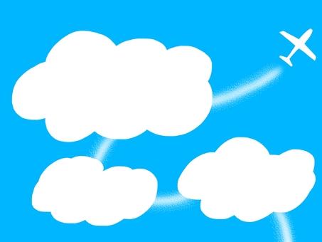 Airplane clouds headline