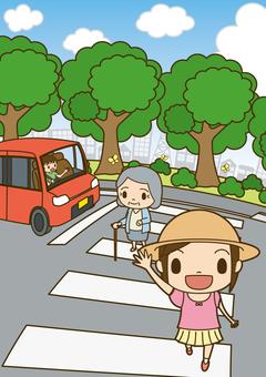 Traffic safety pedestrian crossing 7