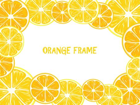 오렌지 프레임 가로 2