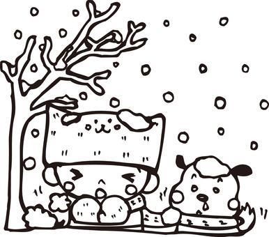 冬天的插圖