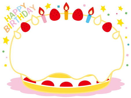 誕生日ケーキフレーム