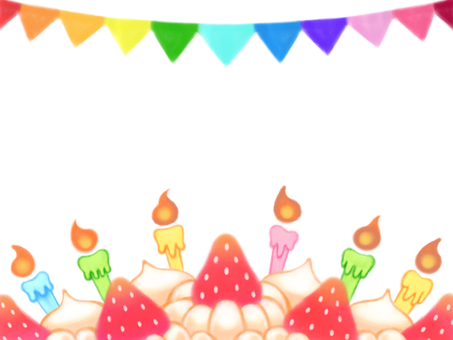 Fluffy strawberry and cream cake