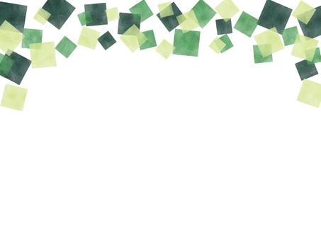 Watercolor square frame
