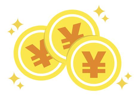Coin money money circle glitter