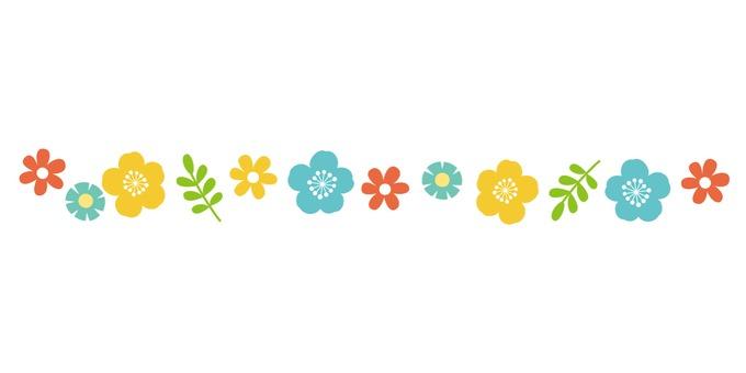 Scandinavian style flower line