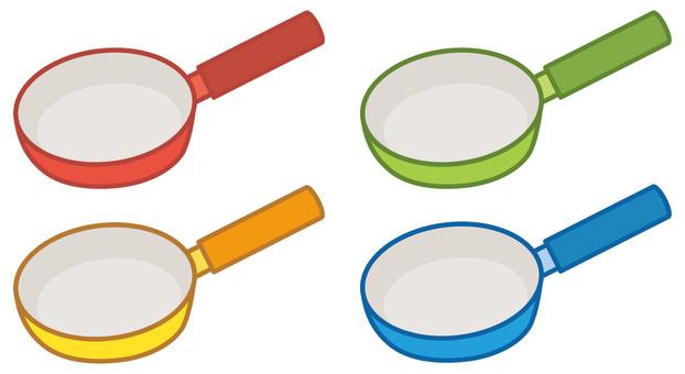 Colorful frying pan