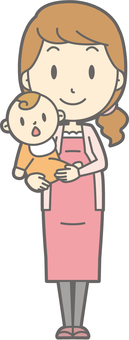 Pregnant woman a - hold - whole body
