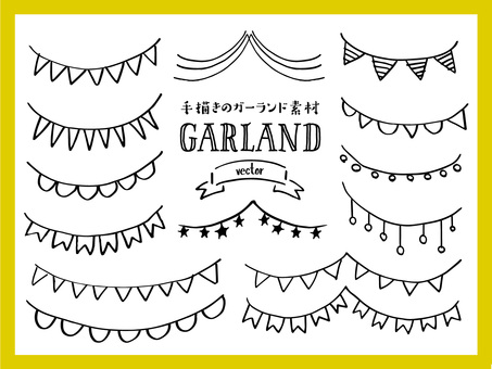 Hand painted garland material