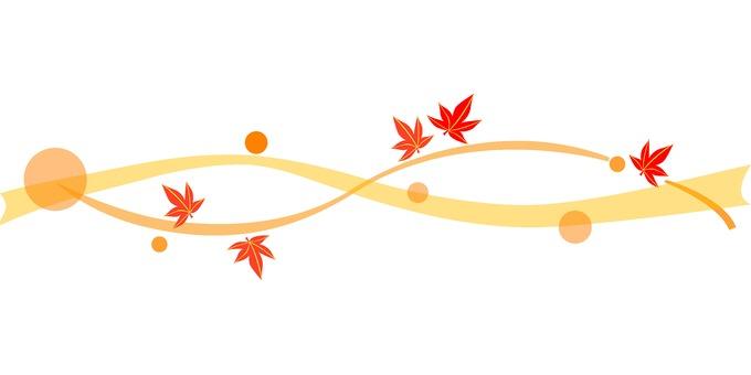 잎의 장식 라인 가을