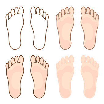 Free material for the feet