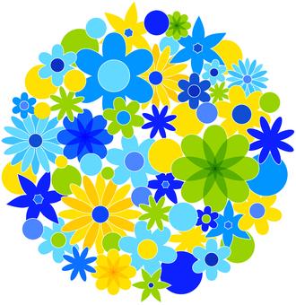 꽃 무늬 - 원형 08