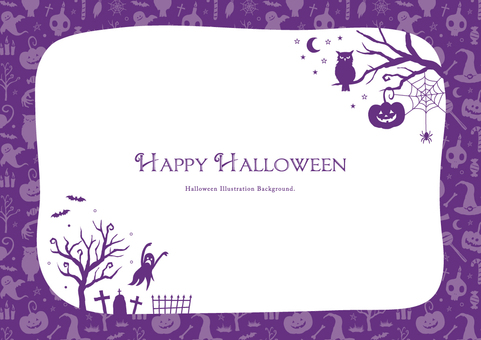 Fall background frame Halloween part 1
