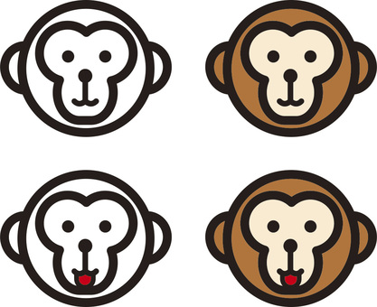 A monkey's face that could be used for stamping
