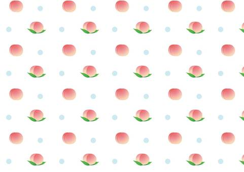 Peach pattern white