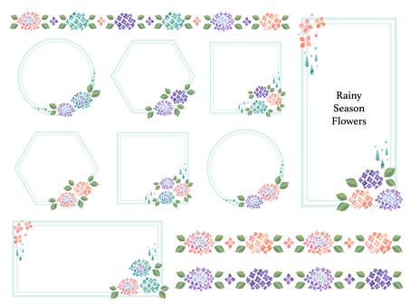 紫陽花フレーム