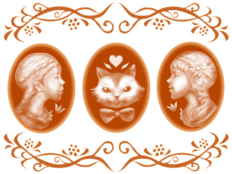 Cameo-style illustration