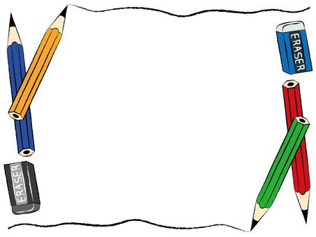 Pencil & Eraser Frame Decorative Frame