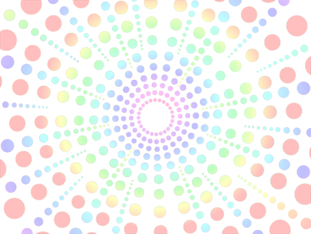 Pastel dot concentration line