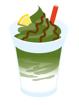 Frozen link green tea