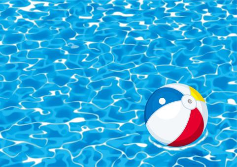 Pool water surface beach ball