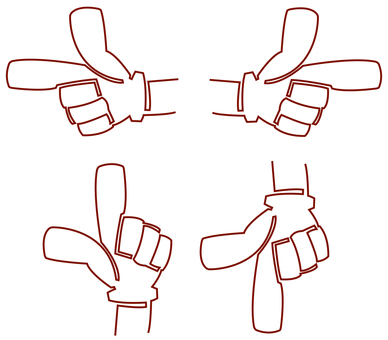 Pointing set 1 stroke writing