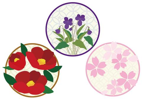 Japanese style flower 1