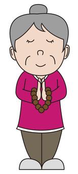 Granny-handed praying hands