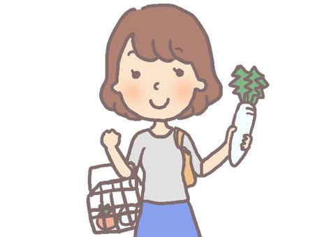 Shopping mom