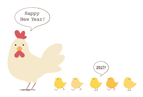 Chicken and child's greeting card