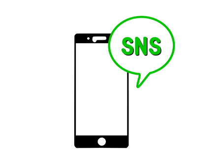 SNS on a smartphone