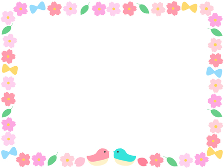 Frame spring flowers
