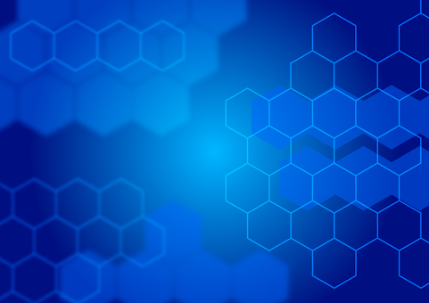 Blue network abstract bokeh background material