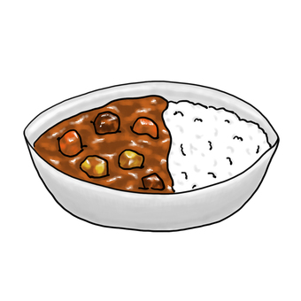 Curry and rice