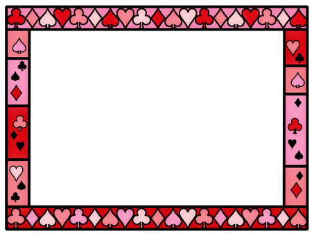 Stained glass wind frame card game